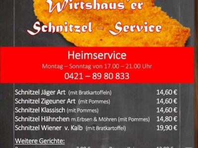 Wirtshaus Schnitzel Service